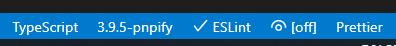 VSCode status bar